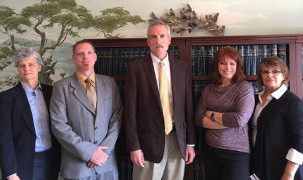 Photo of Richard Gage and his 3 associates
